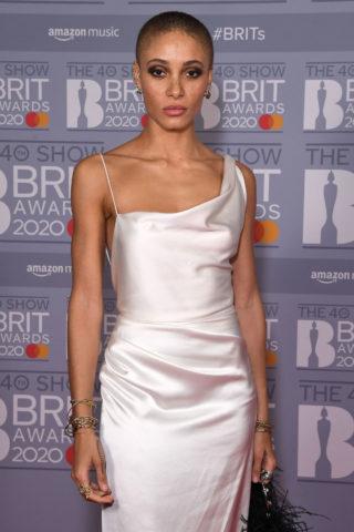 Adwoa Aboah at BRIT Awards 2020 in London