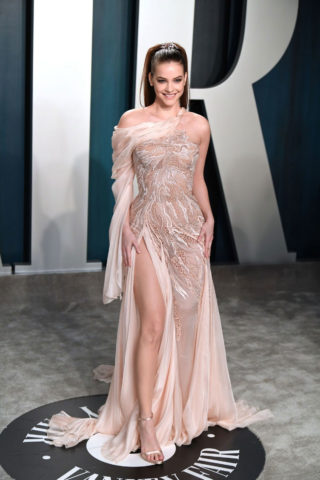 Barbara Palvin at 2020 Vanity Fair Oscar Party in Beverly Hills