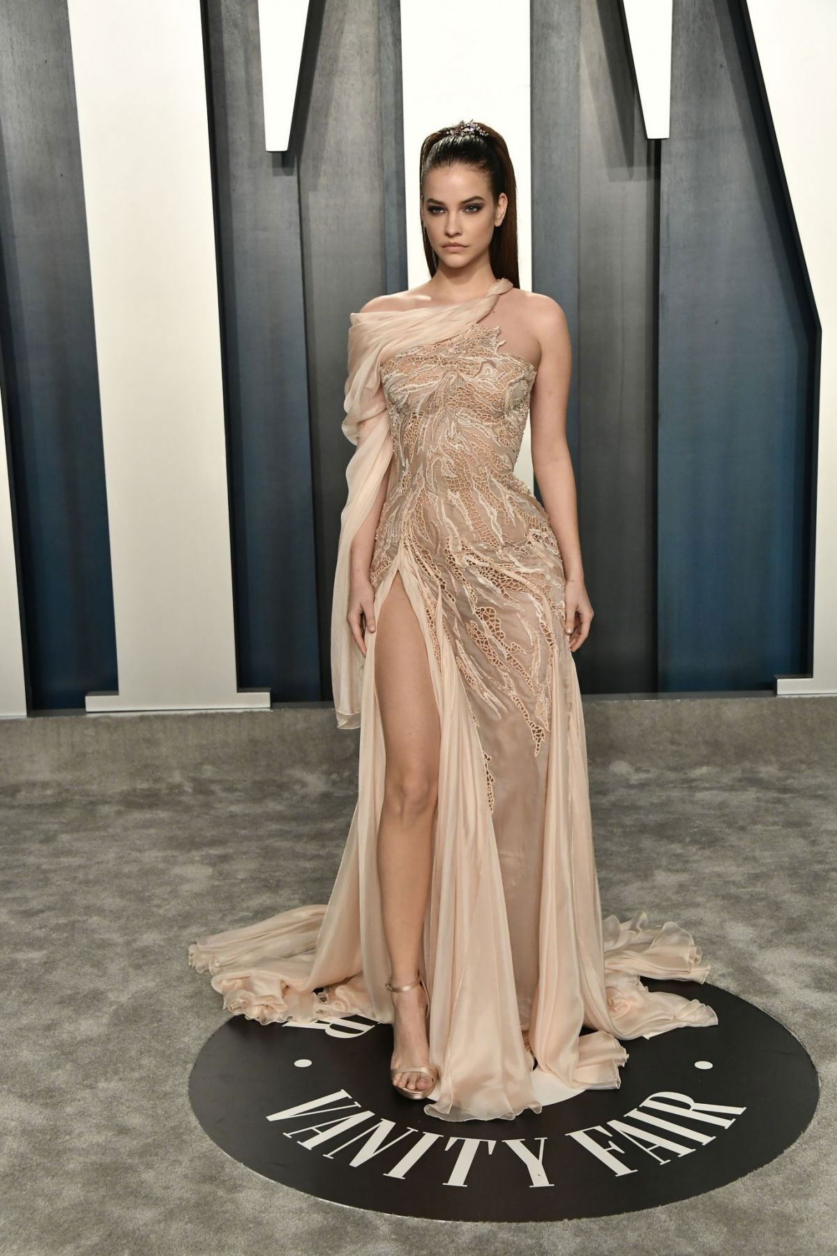 Celebrity Dresses Barbara Palvin At 2020 Vanity Fair Oscar Party In Beverly Hills Justfabzz