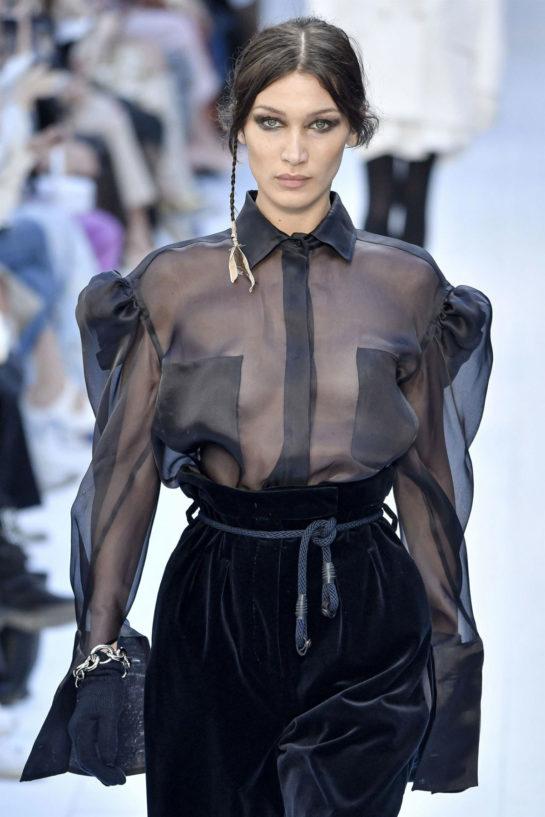 Celebrity Fashion - Bella Hadid Walks Max Mara Fashion Show in Milan