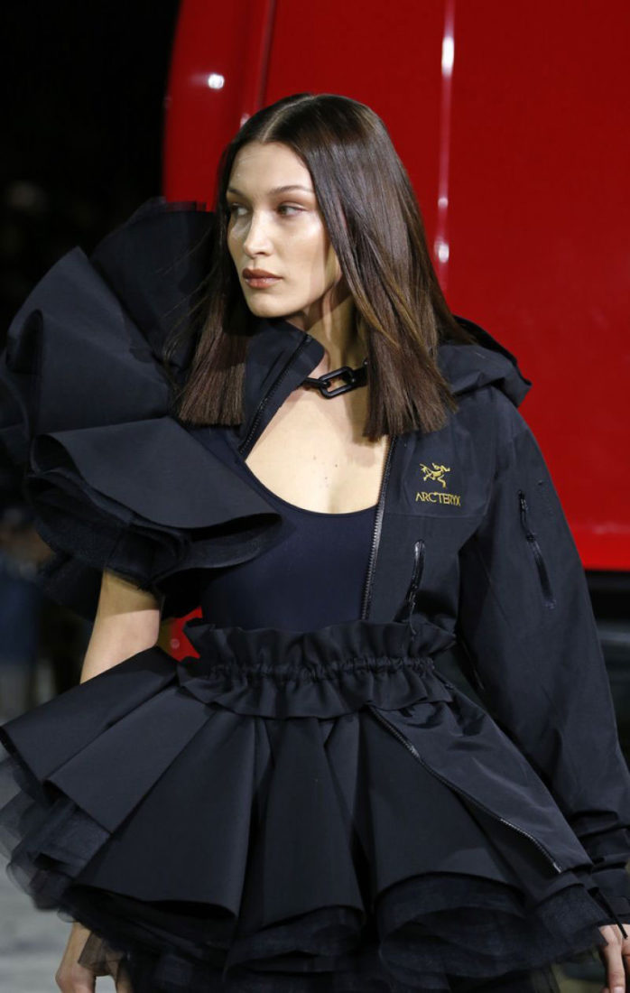 Bella Hadid walked in the Off-White show at Paris Fashion Week