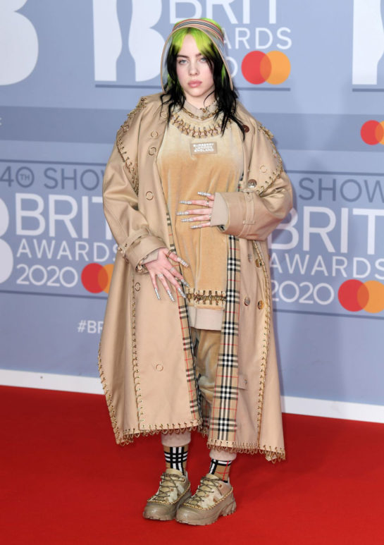 Billie Eilish at BRIT Awards 2020 in London