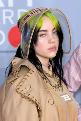 Billie Eilish at BRIT Awards 2020 in London