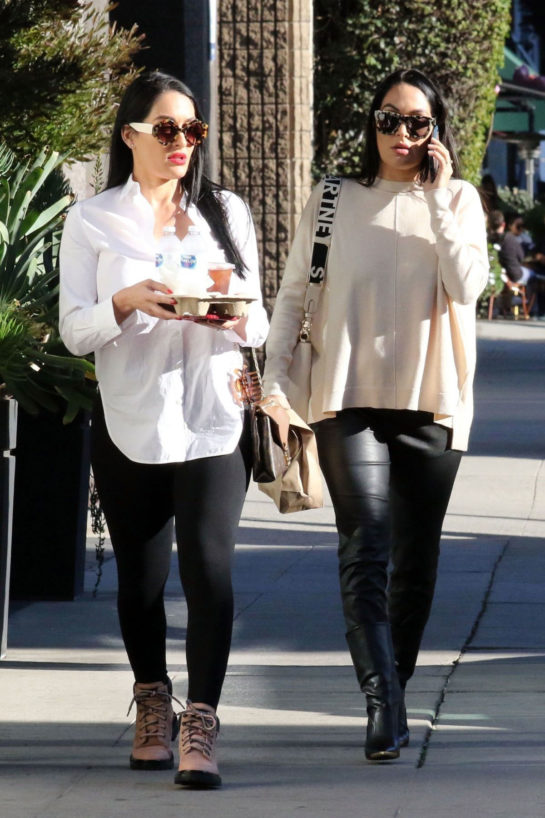Brie and Pregnant Nikki Bella Out in Los Angeles