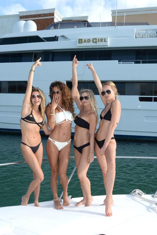Brooke Burke and Her Girlfriends in Bikinis in Dominican Republic