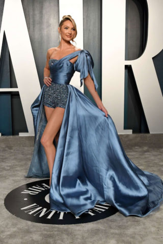 Candice Swanepoel at 2020 Vanity Fair Oscar Party in Beverly Hills