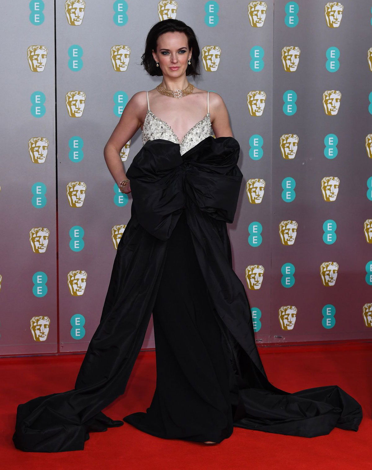 Red Carpet Charlotte Carroll At Ee British Academy Film Awards 2020 Justfabzz