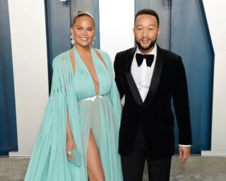 Chrissy Teigen at 2020 Vanity Fair Oscar Party in Beverly Hills