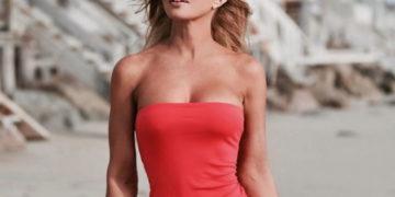 Donna D'Errico at a Beach – Instagram photos