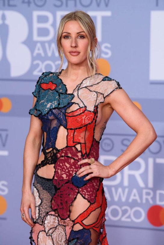 Ellie Goulding at BRIT Awards 2020 in London