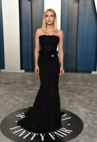 Emma Roberts at 2020 Vanity Fair Oscar Party in Beverly Hills