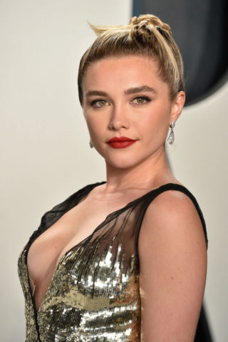 Florence Pugh at 2020 Vanity Fair Oscar Party in Beverly Hills