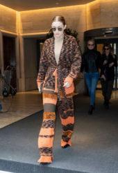 Gigi Hadid Leaving Her Hotel in Milan