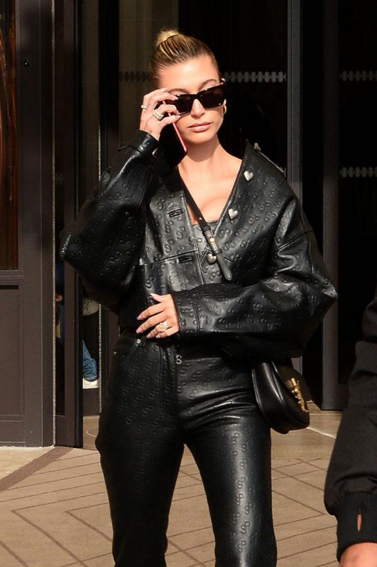 Hailey Bieber Heading to Christian Dior Fashion Show in Paris