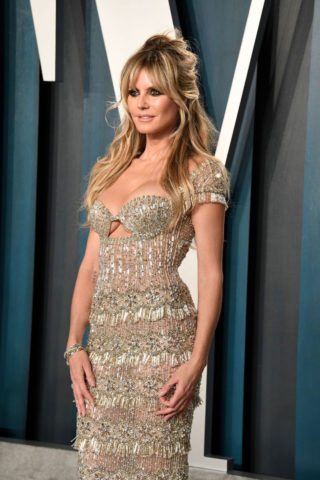 Heidi Klum at 2020 Vanity Fair Oscar Party in Beverly Hills