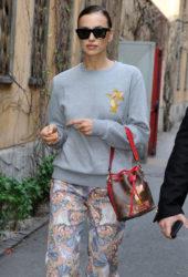 Irina Shayk Out at Milan Fashion Week