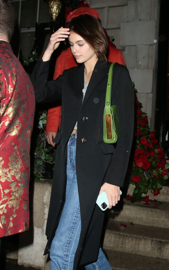Kaia Gerber at Annabel's in London