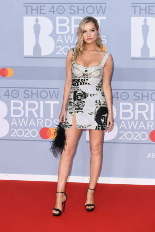 Laura Whitmore at BRIT Awards 2020 in London