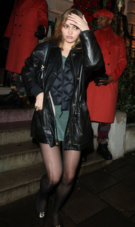 Lily-Rose Depp at Annabel's in London
