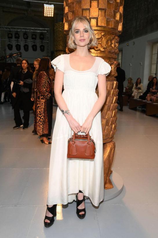 Lucy Boynton at Chloe Fashion Show in Paris