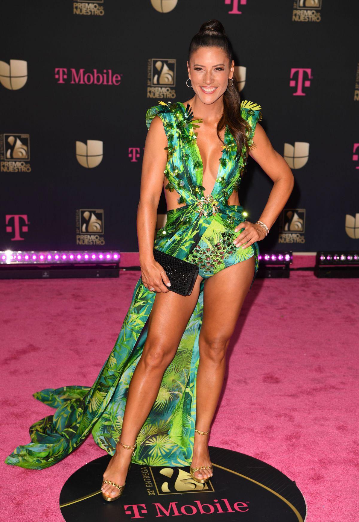 Celebrity Dresses Maria Pia Copello At Premio Lo Nuestro 2020 In Miami Justfabzz