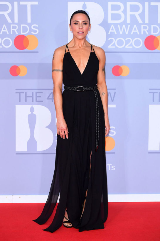 Melanie C at BRIT Awards 2020 in London
