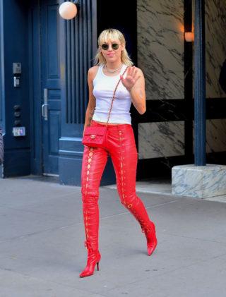 Miley Cyrus at New York Fashion Week in Vintage Dior