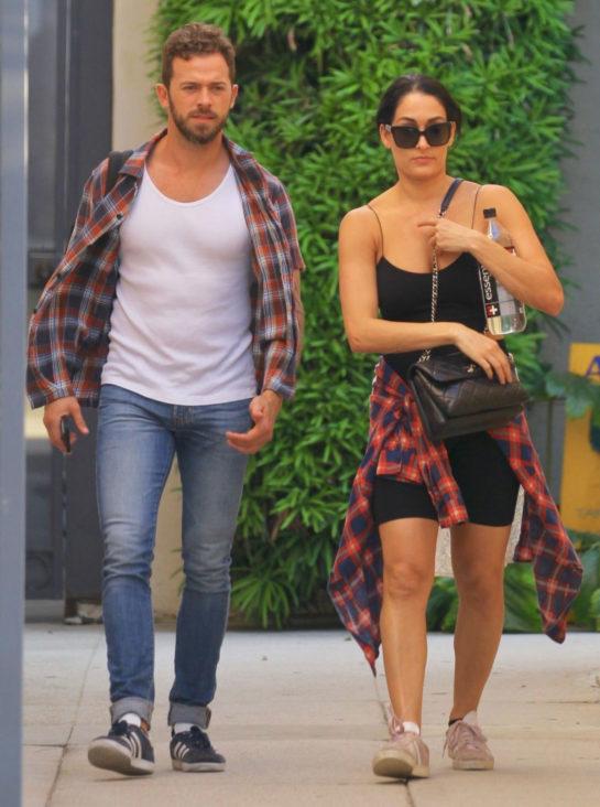 Pregnant Nikki Bella and Artem Chigvintsev Out in Los Angeles