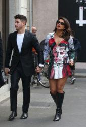 Priyanka Chopra and Nick Jonas in Milan, Italy
