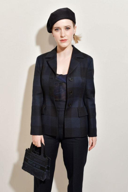 Rachel Brosnahan at Christian Dior Fashion Show in Paris