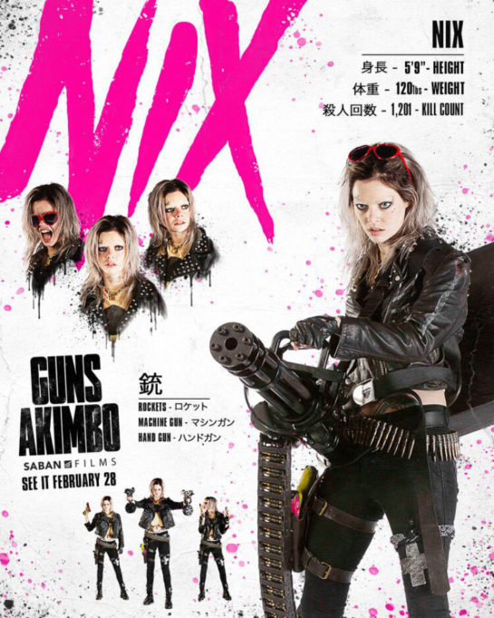 "Samara Weaving ""Guns Akimbo"" Posters 2020"