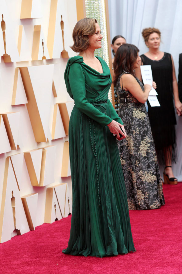 Sigourney Weaver at 2020 Oscars in Los Angeles