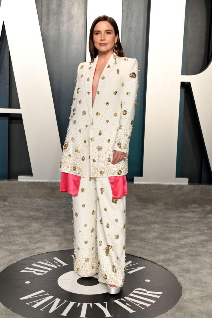 Sophia Bush at 2020 Vanity Fair Oscar Party in Beverly Hills