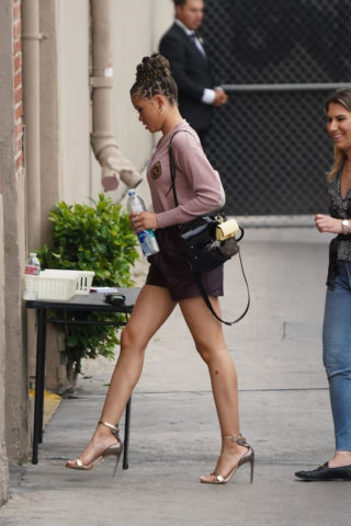 Storm Reid Arriving at Jimmy Kimmel Live in Hollywood