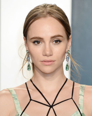 Suki Waterhouse at 2020 Vanity Fair Oscar Party in Beverly Hills