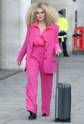 Tallia Storm in Pink at BBC Radio One in London