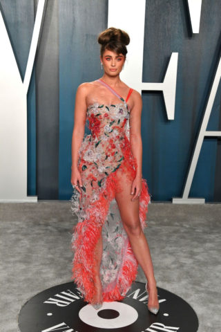 Taylor Hill at 2020 Vanity Fair Oscar Party in Beverly Hills