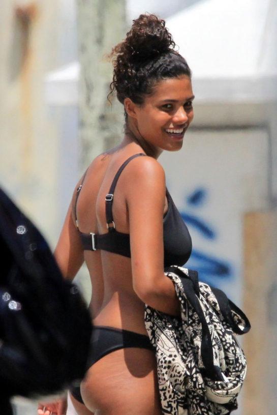 Tina Kunakey in a Bikini at Beach in Rio de Janeiro