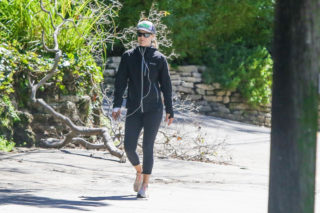 Ali Larter Out Hikinig in Pacific Palisades