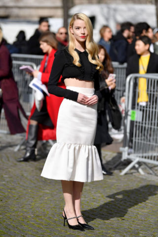 Anya Taylor-Joy at Miu-Miu Show at Paris Fashion Week