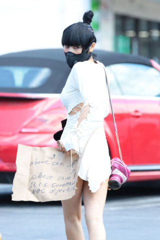 Bai Ling Wearing a Mask Out in Los Angeles