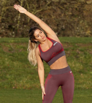 Bianca Gascoigne Working Out at Prestige Bootcamp in Wales