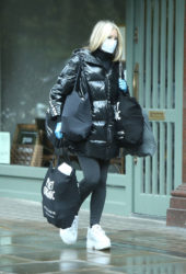 Caprice Bourret Wearing Mask Out Shopping in London