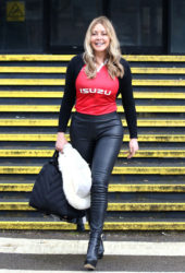 Carol Vorderman arrived to the BBC Radio Wales studios in Cardiff