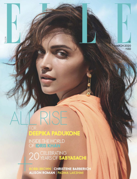 Deepika Padukone in Elle Magazine, India March 2020
