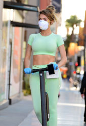 Farrah Abraham in Oh Polly Workout Clothes Wears Mask Out in Hollywood