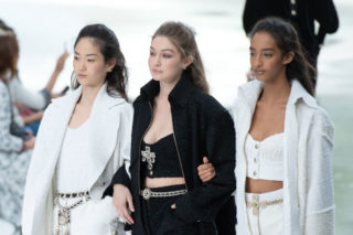 Gigi Hadid Walks the runway during the Chanel Ready to Wear Fashion Show in Paris