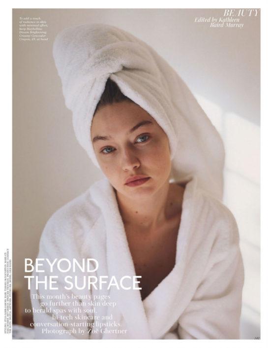 Gigi Hadid for Vogue Magazine, April 2020