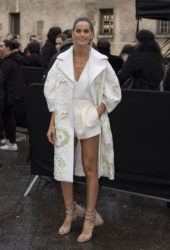 Izabel Goulart Arrives at Valentino Show at Paris Fashion Week