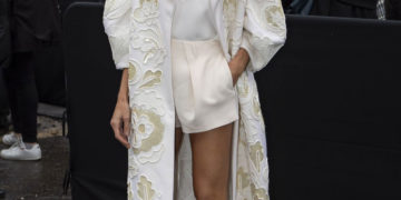 Izabel Goulart Arrives at Valentino Show at Paris Fashion Week